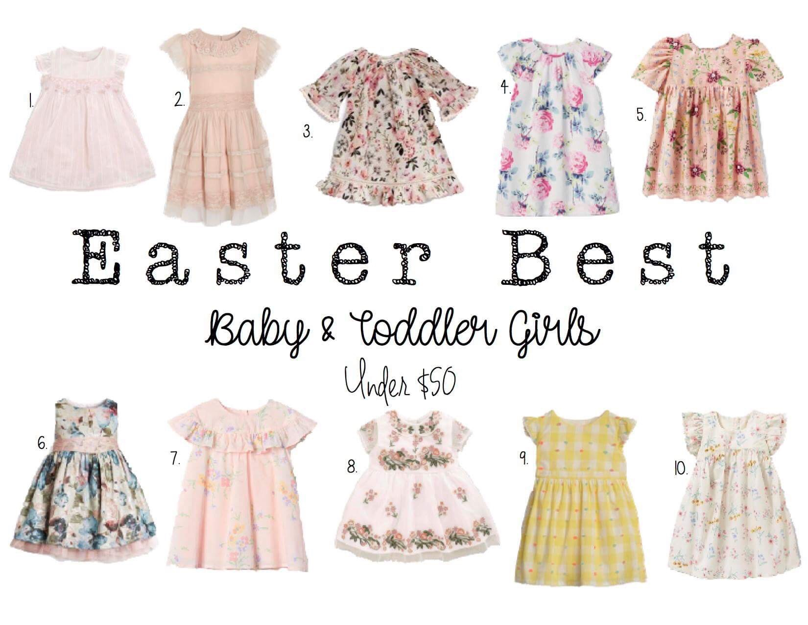 b5e3edac5c5a9 Here are some of my favorite, affordable Easter dresses for little girls!